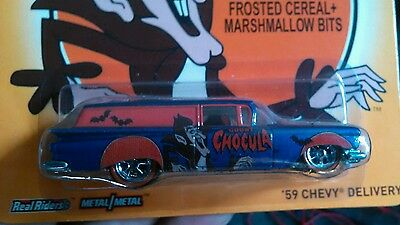 2014 Hot Wheels Pop Culture Count Chocula 59 Chevy Delivery Real Rider