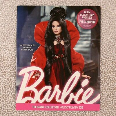 Barbie Collector CATALOG Haunted Beauty Vampire HOLIDAY PREVIEW 2013