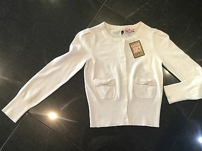 NWT Juicy Couture New & Genuine Girls Age 10 Cream Cotton Blend Cardigan
