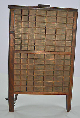 Vintage Printer's Letterpress Type Tray/Drawer Shadow Box Ludlow w/ Label Holder