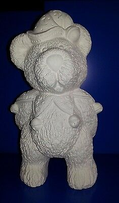 """ceramic bisque, Jester Teddy Bear 10""""/260mm Approx. Ready to paint or glaze"""