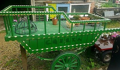 Vintage Market Barrow Hand Cart Mobile Stall, Suspension ASK for delivery quote