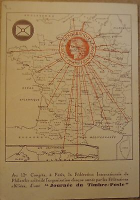 Cpa Journee Du Timbre 1938 France N°360