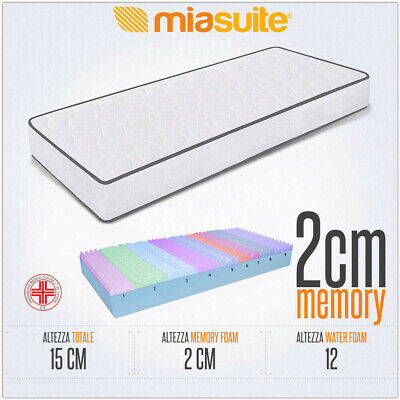 Materasso Memory Singolo 80X190 Alto 15 Cm 9 Zone Differenziate Memory Simple