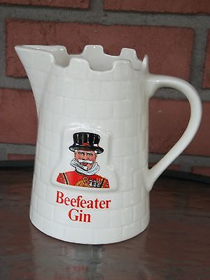 Beefeater Gin Castle Tower Pattern Three Cup Pitcher From England By Kobrand