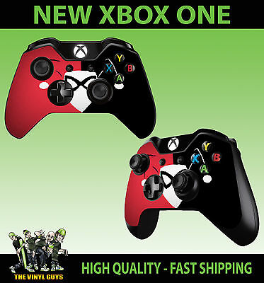 Xbox One Controller Pad Sticker Harley Quinn Red Black Harleen Quinzel Skins X2