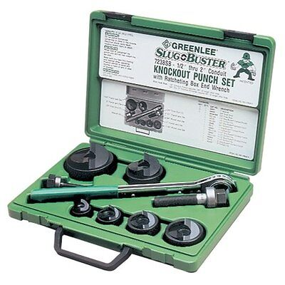 Greenlee 7238SB Slug-Buster Knockout Kit With Ratchet Wrench...NEW