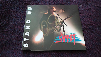 The Sweet.'stand Up' Cd Single + 3.signed By Andy Scott.
