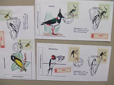 Five PROTECTED BIRD registered,special cancel covers