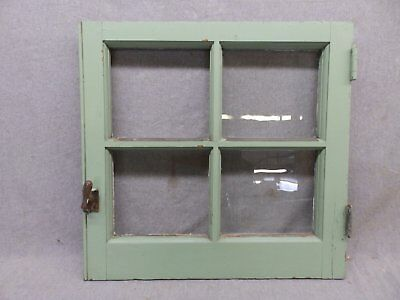 Antique Casement Window Pantry Cupboard Door Shabby Bookcase Chic Vtg 65-17R