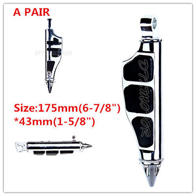 Chrome Foot Pegs Male Mount For Harley Davidson Touring Softail Dyna Sportster
