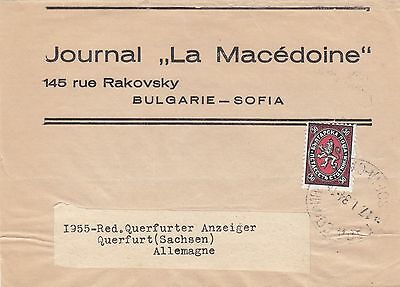 Bulgaria  1916  Full Wrapper From Macedonia Newspaper To Germany