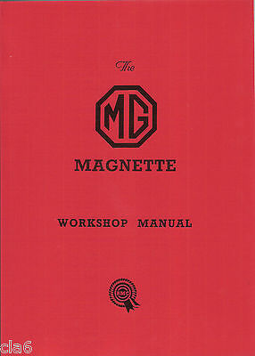 MG Magnette ZA and ZB Workshop Manual 1953-1956 BMC *NEW