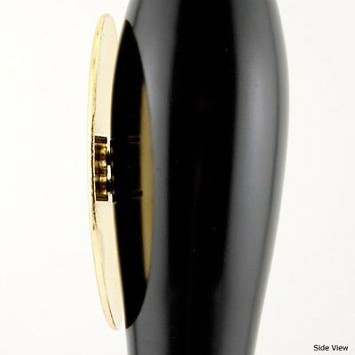 Pub Style Beer Tap Handle with Oval Shield: BLACK...NEW