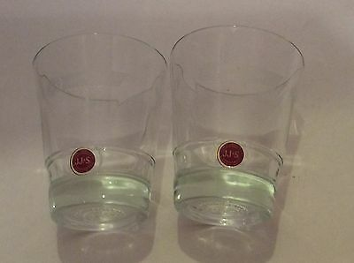 2 Jameson Irish Whiskey Tumbler Glasses Label Etched JJ&S
