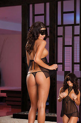 Woman's Saucy UK - Open Babydoll With Thong - One Size - UK Seller
