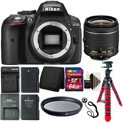 Brand New Nikon D5300 24.2 MP DSLR Camera + Battery and Charger + Accessory Kit