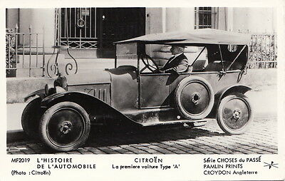 Postcard RPPC Car Citroen