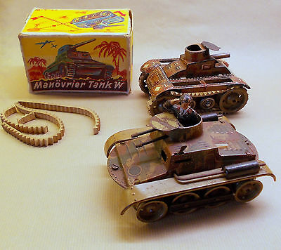 2 Tanks one GAMA T59 on rubber tracks and another one PN or GESCHA in box