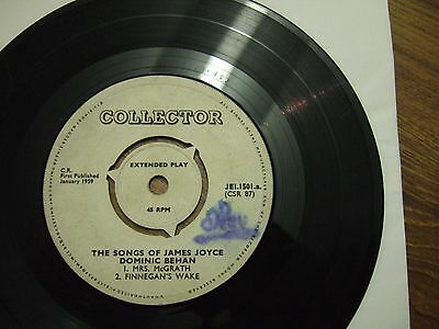 DOMINIC BEHAN - THE SONGS OF JAMES JOYCE - EP COLLECTORS JEl.1501/1959 NO SLEEVE
