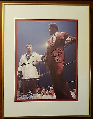 Muhammad Ali and George Foreman Signed Both 11x14 Photo with COA 1995