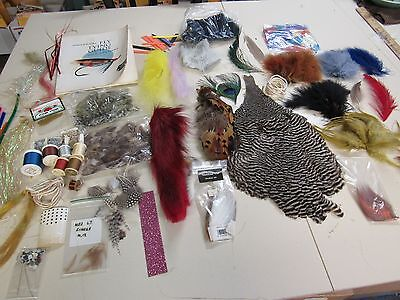 Mixed Lot Of Assorted   Fly Tying Materials