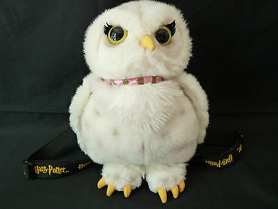 Hedwig Harry Potter White Owl Plush Backpack Zipper on the Back Bag Stuffed Toy