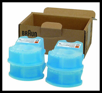 4 PACK Genuine Braun Clean and Renew Cartridge Refills. Series 3 5 7 CCR4 Shave