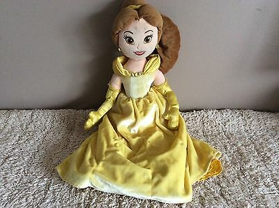 """Disney Store Exclusive Belle Princess LARGE Soft Plush Toy Doll 21"""" Tall"""