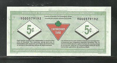 Canadian Tire Replacement Note  9000579192  Unc