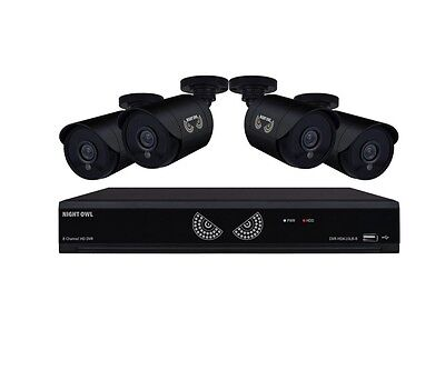 8-Channel 1080 Lite 1TB Surveillance DVR with 4 x 720p Cameras with Night Vision
