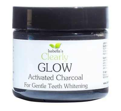 Isabella's Clearly GLOW, Best Natural Teeth Whitening Activated Charcoal Powder
