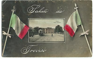 Saluti Da Treviso RP PPC, Posted 1911 to Engineer Specialist Battalion in Rome