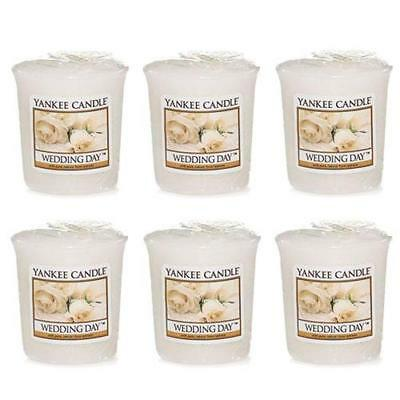 Yankee Candle Wedding Day 6 Votives / Samplers FREE P&P
