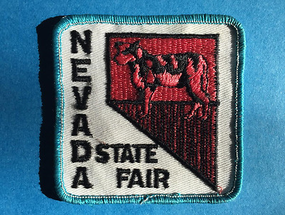 Rare Vintage 1970's Nevada State Fair Hat Jacket Biker Vest Travel Patch Crest