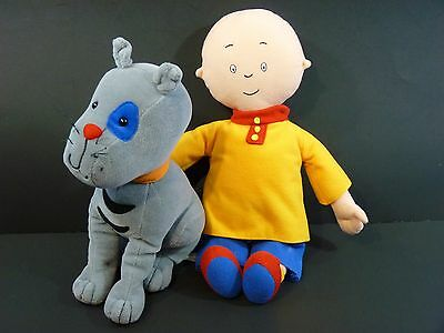 Caillou 13'' & Gilbert the Cat 10'' Stuffed Plush Doll Toy, 1999-2001