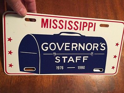 Mississippi Governor's Staff Tag, Governor Cliff Finch 1976-1980