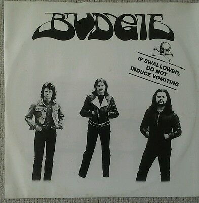 BUDGIE IF SWALLOWED DO NOT INDUCE VOMITING 1980 ACTIVE 12-inch, VG