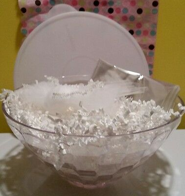 Tupperware Ice Prisms Preludio Clear  8.454 Cup 2L Large Bowl & Seal Set New