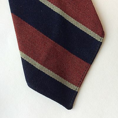 1940's  vintage wool striped red and blue tie