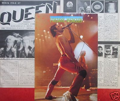Queen Freddie Mercury 1980 Clipping Japan Magazine Rf 3A 5Page