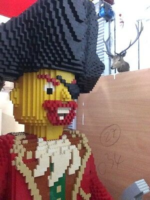 Huge One Of A Kind Lego Pirate Shop Display Man Cave Statement Unique