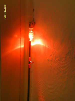 2 FISHING ROD LED TIP LIGHTS  complete with batteries  Bright RED