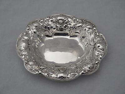 """Antique Wallace Poppy Sterling 7"""" Bowl"""