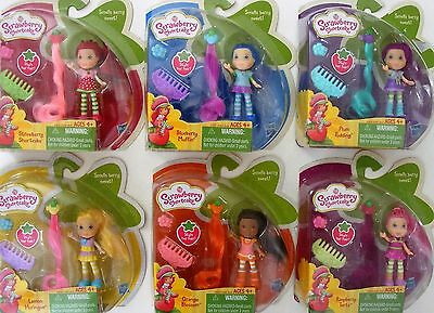 Strawberry Shortcake Complete Mini Doll Set of 6 Blueberry Muffin Plum Pudding +