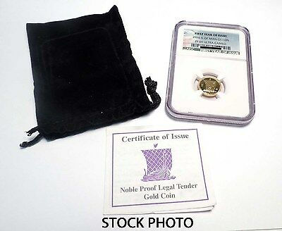 1994 Isle of Man Gold 1/10 Noble w/Pouch First Year of Issue NGC PF-69UC -145764