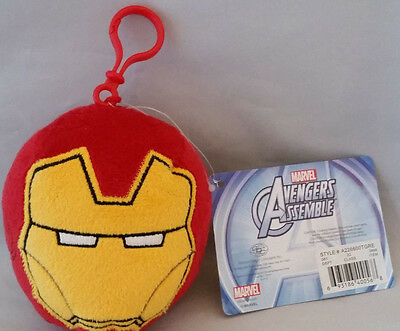 Marvel Avengers Assemble Plush Backpack Clip On Wallet Charm Iron Man NWT
