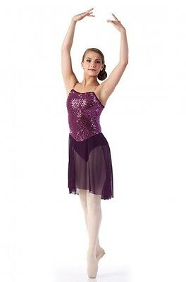 Glimmer Dance Costume Plum Lyrical Ballet Contemporary Ice Skating Clearance