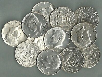 1965-1969 KENNEDY HALF DOLLARS, US 40% Silver Coin Lot - 25 Coins - $12.50 Face