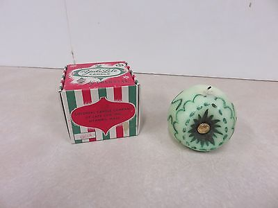 Ornament Style Christmas Candle Yule Lite By Colonial Rare Vintage Antique